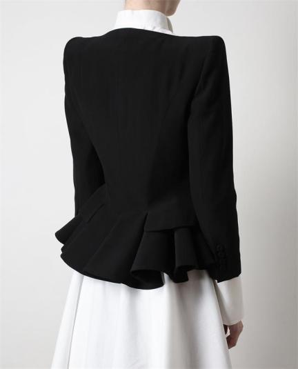 Alexander McQueen black tailored peplum jacket