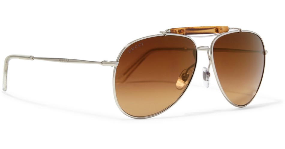 gucci-brown-bamboo-trimmed-aviator-style-metal-sunglasses-product-1-154329429-normal