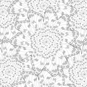 "Matthew Williamson ""Butterfly Wheel"" print ready for coloring"