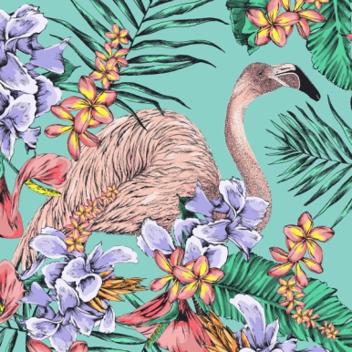"Matthew Williamson ""Flamingo"" print"