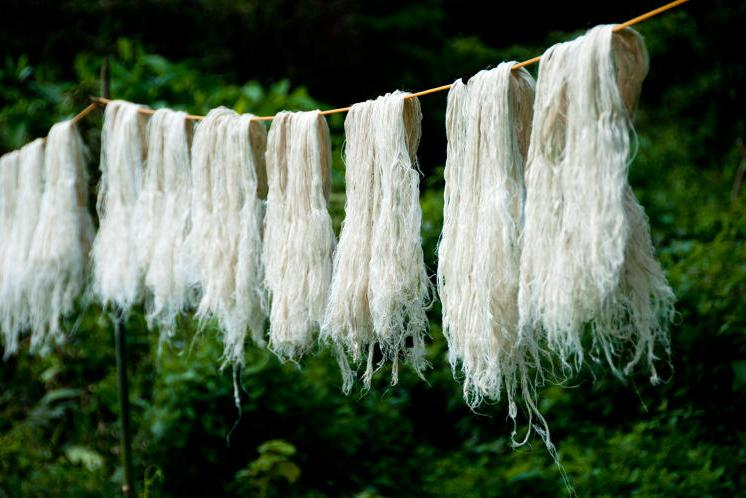 Local factories in the Philippines separate strands and felt them together into a non-woven fabric