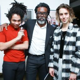 Luka Sabbat, Clark Sabbat & Noah Dillon at the Milk X Luka Sabbat HOT ME$$ Art Opening ©Noel McGrath/BFA.com