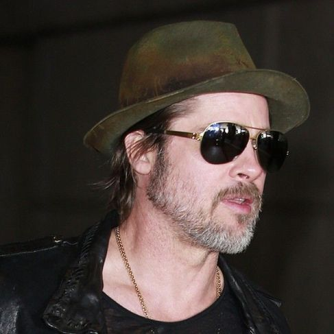 Reinhard Plank hat on Brad Pitt