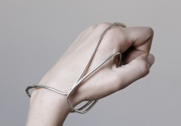 "Vanesi ""Graft"" hand cuff in silver"