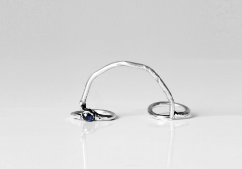 """Vanesi """"Connection"""" ring in silver"""