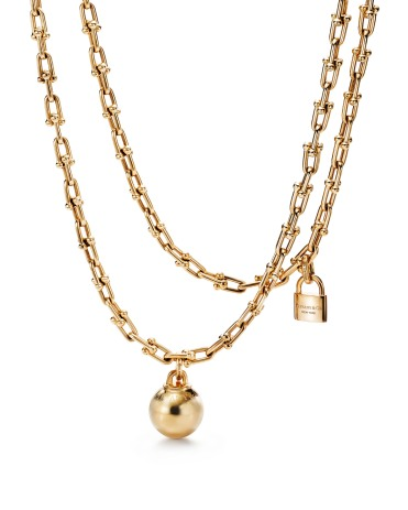 """Tiffany """"City Hardwear"""" chain necklace - The chain mesh design inspired by the urban soul of the New York City metropolis mixes high fashion with street style."""