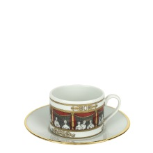 """Cup and saucer for Tea, Fornasetti """"Don Giovanni"""" collection"""