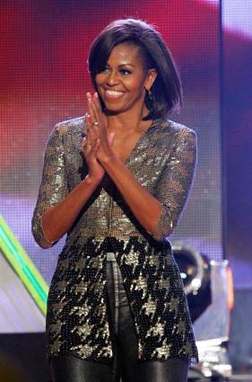 Former first lady Michelle Obama, in Wes Gordon, at the Nickelodeon 25th Annual Kids' Choice Awards.