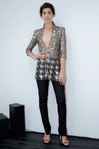 Look from Wes Gordon fall/ winter 2012 collection.