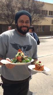 """""""Food Art By Lauren"""" food truck during the Los Angeles Vegan Street Fair."""