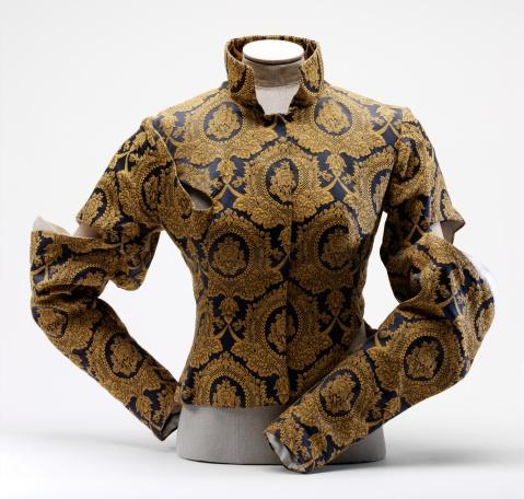 """Alexander McQueen's """"Dante"""" jacket, Wool and silk brocade. (1996)"""