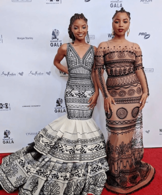 Chloe and Halle on the red carpet at the Wearable Art Gala in Los Angeles