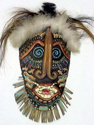 Traditional African ceremonial mask.