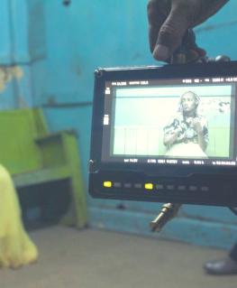 Behind the scenes on the Rafiki film set.