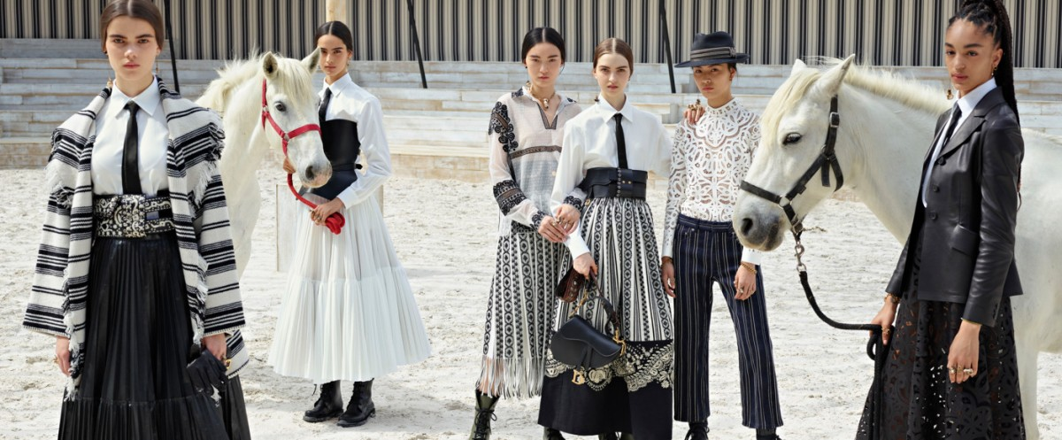 John Galliano's Iconic Dior Saddle Bag Returns For The Dior 2019 Cruise Collection.