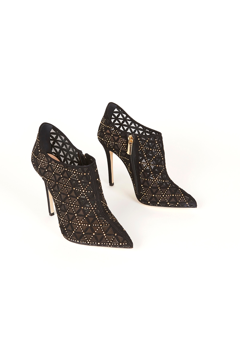 Shoe Of The Day: Stud-Embroidered Ankle Boots by Fragiacomo.