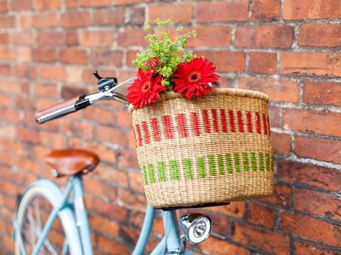THE BASKET ROOM HANDWOVEN GHANAIAN BICYCLE BASKETS