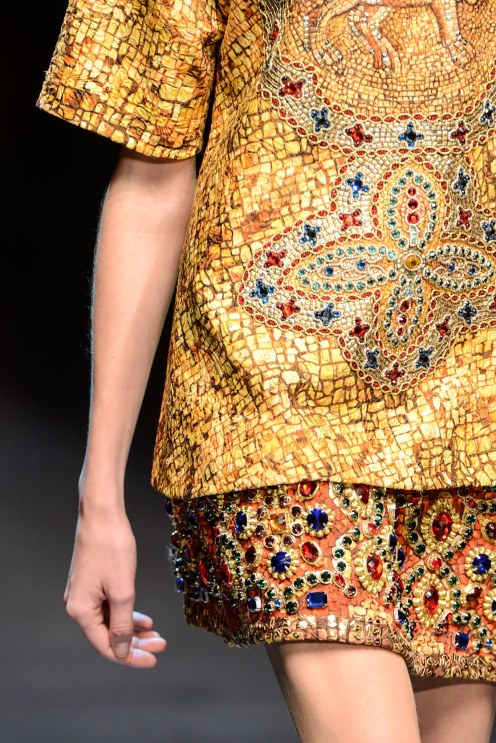 Dolce&Gabbana's Winter 2013 collection in Milan.