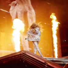 Beyonce in custom Balmain.