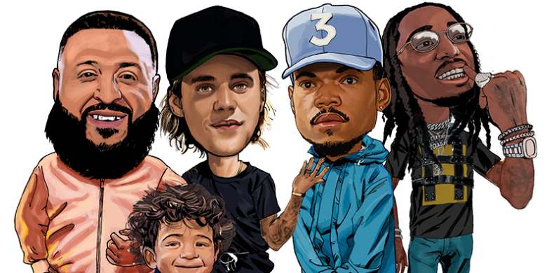 DJ Khaled, Bieber, Chance the Rapper, Quavo