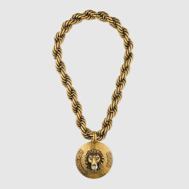 Gucci-Dapper Dan lion head necklace 2500
