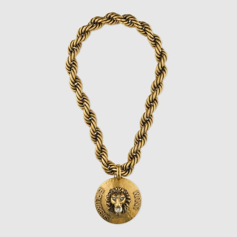 Gucci-Dapper Dan lion head necklace 2500