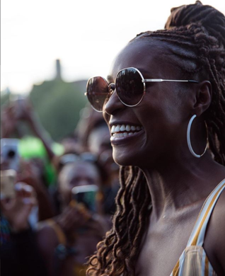 Issa Rae at Afropunk 2018 courtesy image Instagram