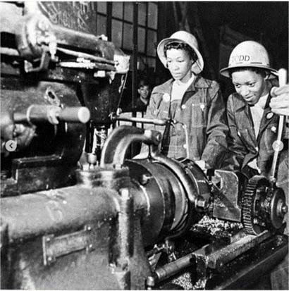 Black 'Rosie the Riveters' (circa 1940s)