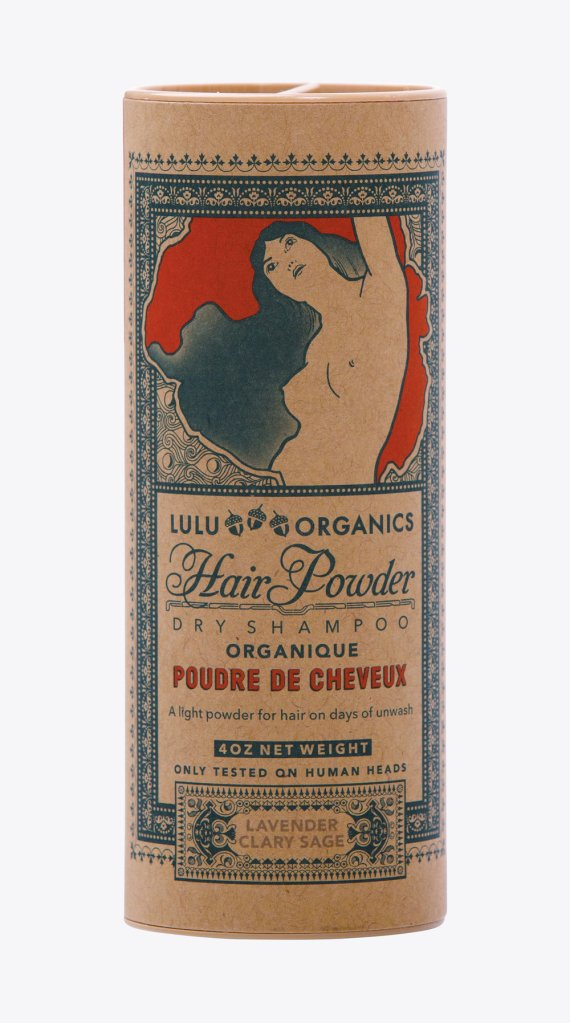 Natural dry shampoo products: Lulu Organics Hair Powder, $28.00 (photo: courtesy LuLu Organics)