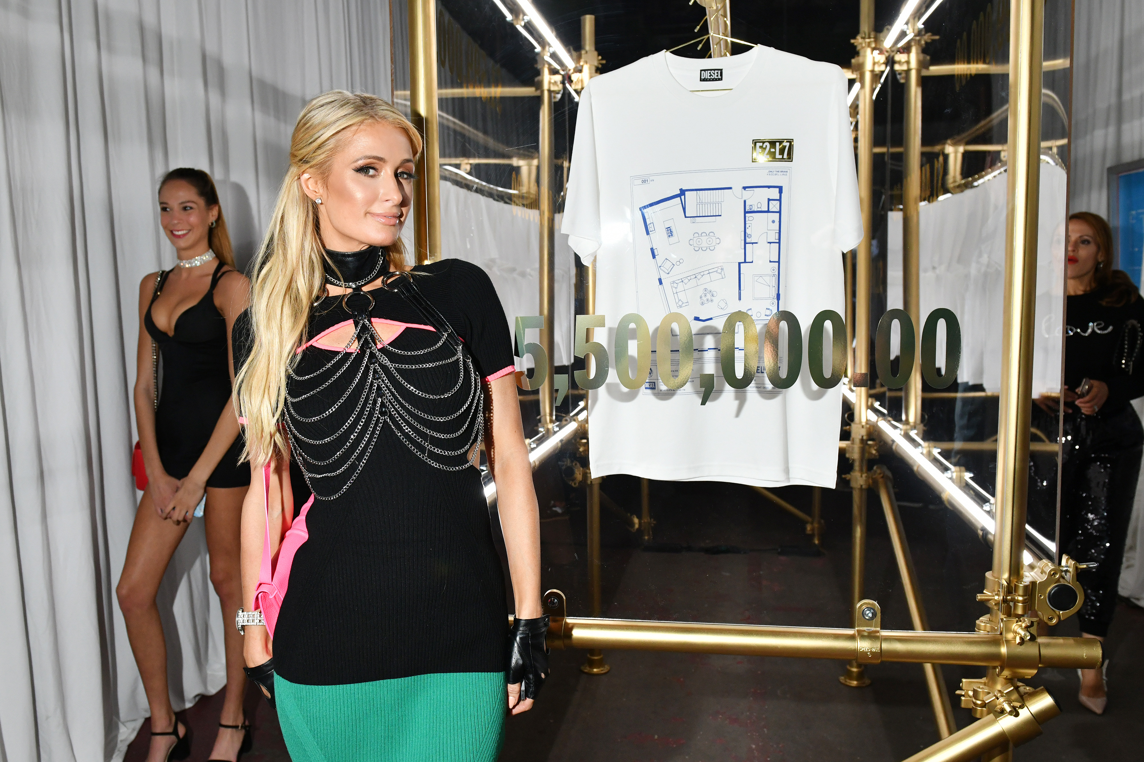 MIAMI, FLORIDA - DECEMBER 04: Paris Hilton attends as DIESEL celebrates the exclusive launch of DIESEL Wynwood 28, their first residential building, with a DJ set by Amrit at Barter on December 04, 2019 in Miami, Florida. (Photo by Craig Barritt/Getty Images for Diesel)