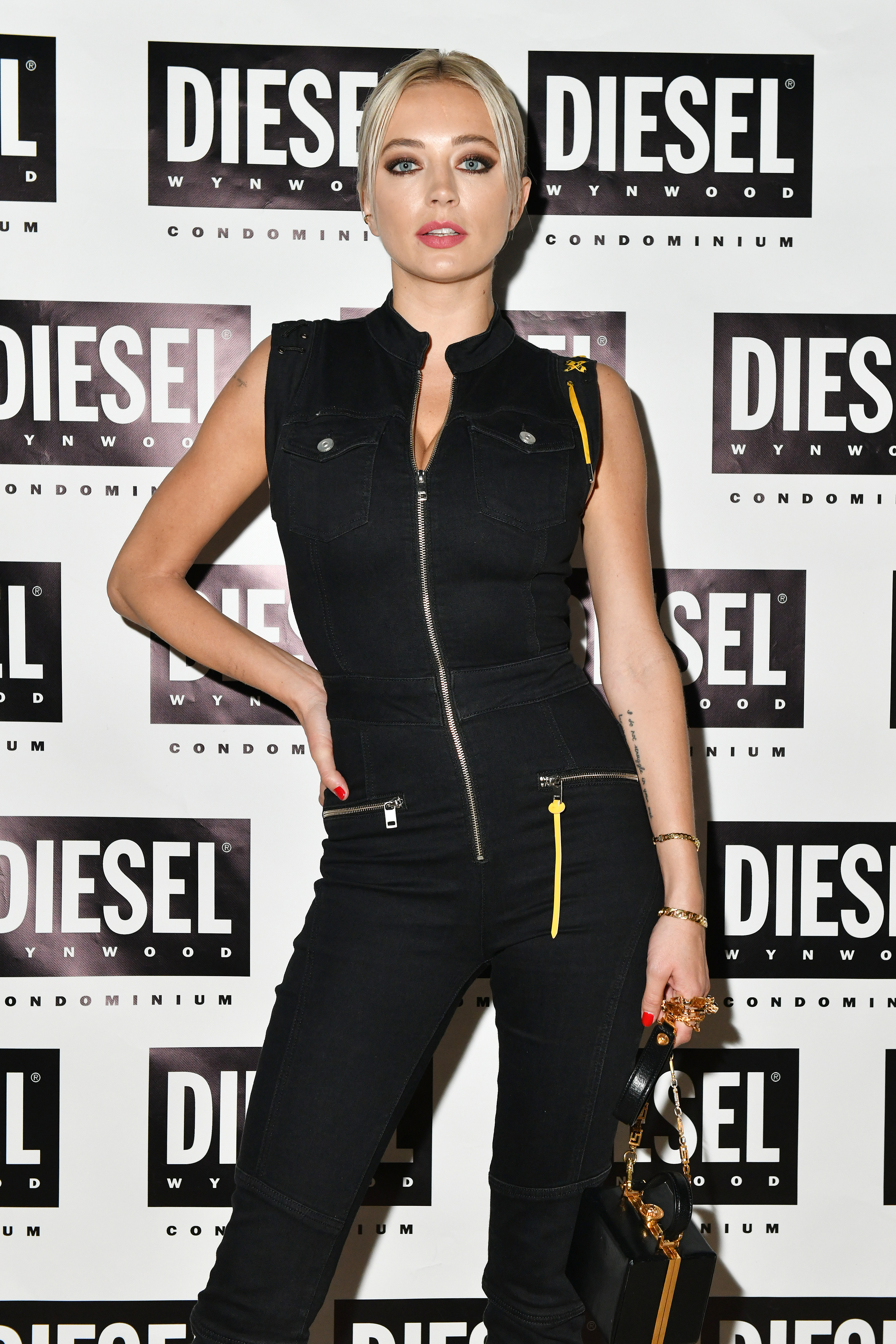 MIAMI, FLORIDA - DECEMBER 04: Caroline Vreeland attends as DIESEL celebrates the exclusive launch of DIESEL Wynwood 28, their first residential building, with a DJ set by Amrit at Barter on December 04, 2019 in Miami, Florida. (Photo by Craig Barritt/Getty Images for Diesel)