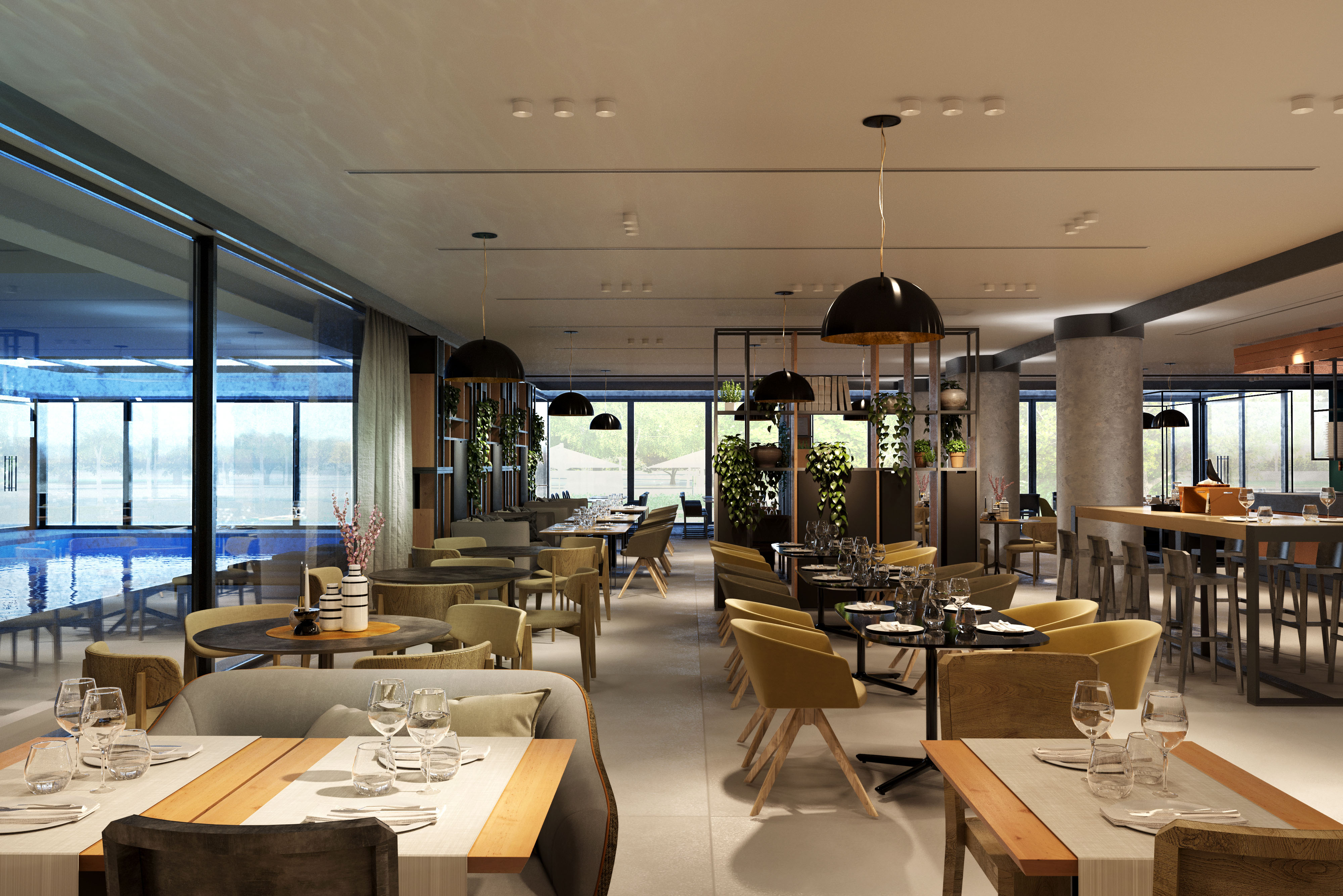 Photo renderings from the Starhotels project in Bologna (photo: Massimo Iosa Ghini)