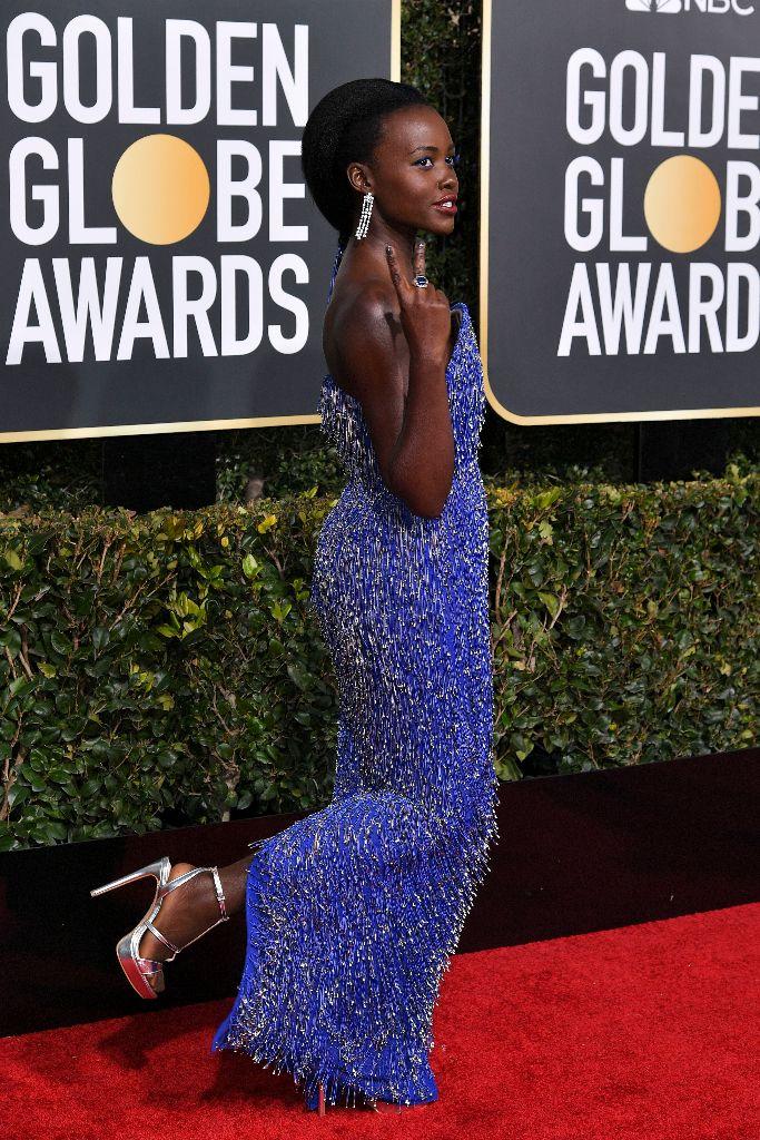 Lupita Nyong'o at the Golden Globe awards. (photo: Shutterstock)