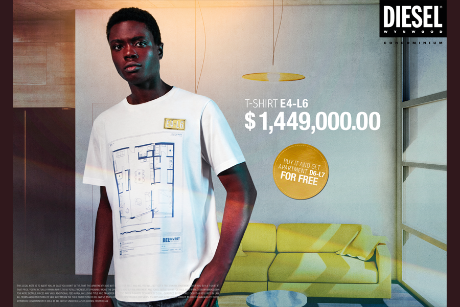 The Diesel E4-L6 condo t-shirts, the most expensive t-shirts ever. (photo: courtesy Diesel)