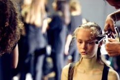 The Fashion Plate backstage at the Anteprima SS19 fashion show. (photos: Monika Mrozik)