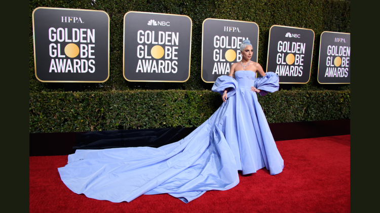 Lady Gaga at the Golden Globe (photo: courtesy)