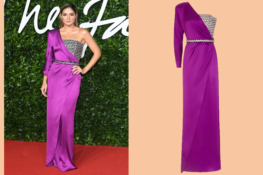 Thassia Naves in Ralph & Russo at the 2019 British Fashion Awards. (photo: Ralph & Russo)