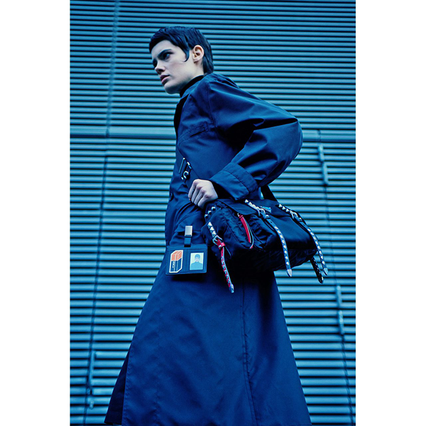 Prada Fall 2019 Womenswear with the new Prada Nylon handbag. (photo: courtesy)