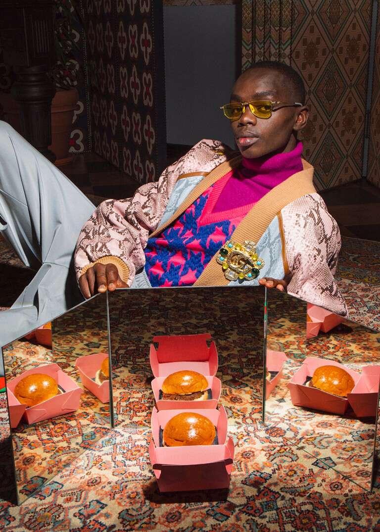 """The """"Gucci Burger"""" photographed by Max Siedentopf (photo: Gucci)"""