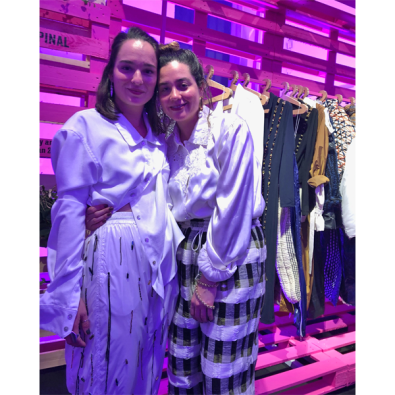 Gabriela Luna and Corina del Pinal (Guatemala), winning designers of The Next Green Talents initiative hosted by Yoox & Vogue Italia. (photo: Nichelle Cole)