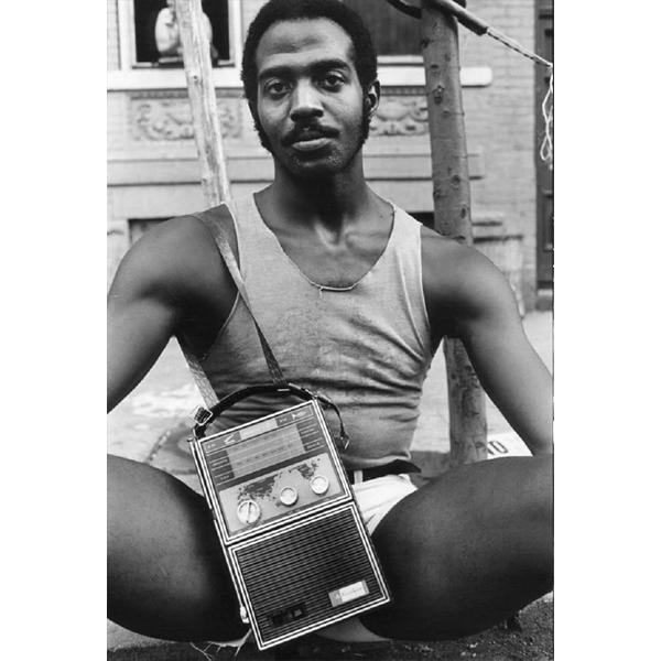 """New York photographer Arlene Gottfried, """"Guy with radio"""", copyright Arlene Gottfried (photo: courtesy Nadine Dinter PR)"""