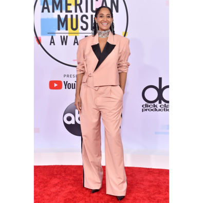 Tracee Ellis Ross on the red carpet at the 46th Annual American Music Awards show.