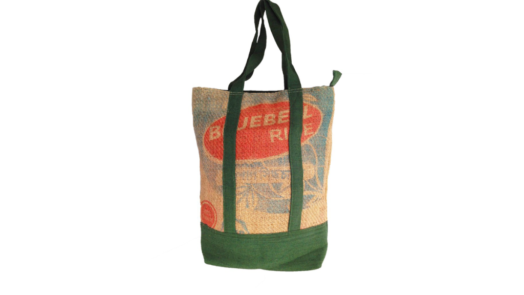 The Best Upcycled Lifestyle Bag: Saidpur Enterprises Recycled Rice Sac Tote $30.99 (photo: Saidpur Enterprises)