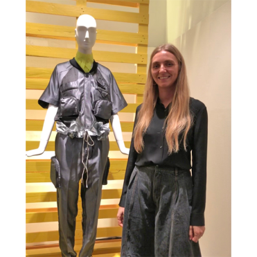 Ksenia Schnaider (Ukraine), a winning designer of The Next Green Talents initiative hosted by Yoox & Vogue Italia. (photo: Nichelle Cole)