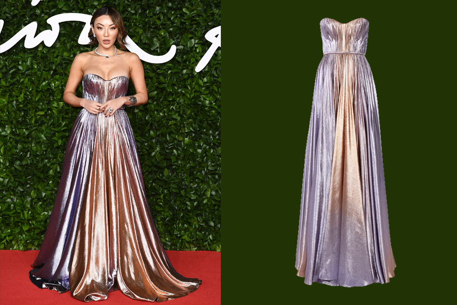 Jessica Wang in Ralph & Russo RTW at the 2019 British Fashion Awards. (photo: Ralph & Russo)