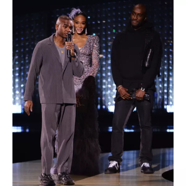 Designer Samuel Ross of A-Cold-Wall* accepts the British Emerging Talent Menswear award at The British Fashion Awards (2018).