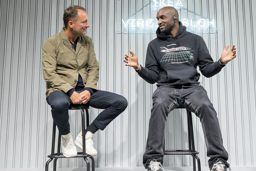 Henrik Most, creative director of Ikea, and Virgil Abloh, Off-White designer. (photo: courtesy Ikea)