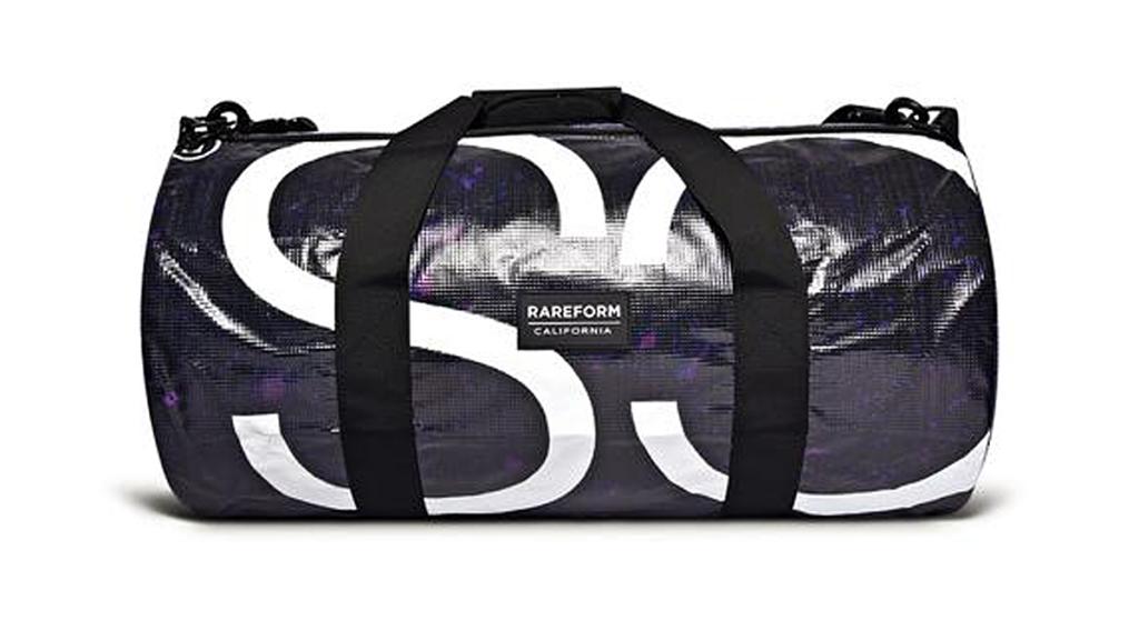 The Coolest Upcycled Lifestyle Bag: Rareform repurposed billboard nylon/ vinyl gym bag, $64. (photo: Rareform).