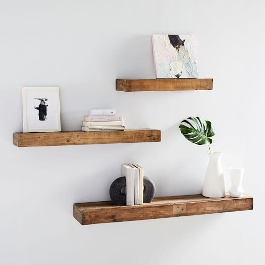 Reclaimed wood shelf (photo: courtesy)