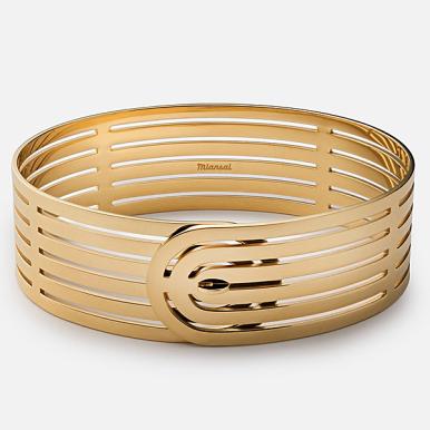 """Miansai """"Infinity"""" Gold Bracelet, $235 USD."""